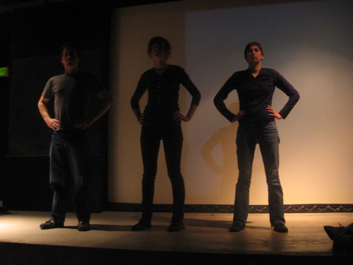 """Cordoned """"rope it up...at the base... / """"feeling""""...dumb show"""" (Timken Hall, CCA)"""