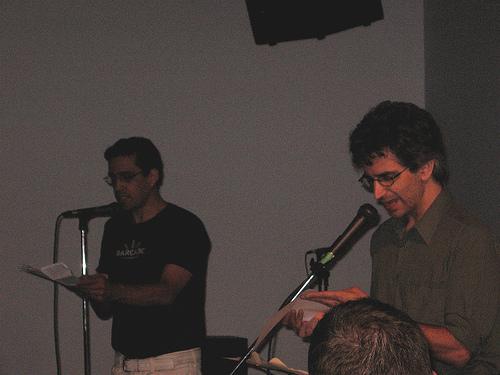Rodrigo Toscano and Louis Cabri (Vivo Center)