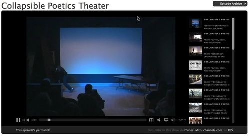 Collapsible Poetics Theater (CPT) pics site